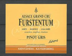 VIN D'ALSACE   GRAND CRU FURSTENTUM PINOT GRIS 2004 CAVE KIENTZHEIM - KAYSERSBERG    NEUF - Drink