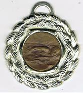 Médaille  Bi_métal   Natation     Verso Marqué Nayelan - Natation