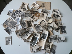 LOT DE 100 PHOTOS DE PERSONNAGES   PHOTOS DEFECTUEUSES - Personnes Anonymes
