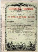 VP9734 - PARIS 1880 - Titre - Police - L'Assurance Financière - Banque & Assurance