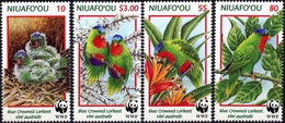 Niuafo'ou, 1998, WWF, Parrots, MNH - W.W.F.