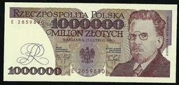 POLAND 1000000 ZLOTYCH 1991 P#157 GEM UNC - Pologne