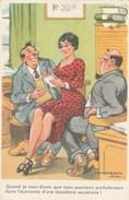 CARTE HUMORISTIQUE JEAN CHAPERON PIN-UP SECRETAIRE - Chaperon, Jean
