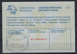 UNO GENF / UPU BERN International Reply Coupon Reponse Antwortschein IRC La22 90C. SST BERN Weltpostverein A 3.1.75 - U.P.U.