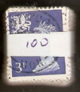 Great Britain (Wales) 3p Blue Machin Decimal Definitives, All Sound Used Copies - Vrac (max 999 Timbres)