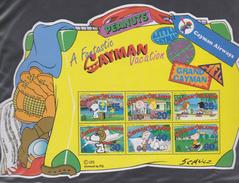 M 739) Cayman 2002 Mi# 914-919 Bl 37 **: Peanuts, Urlaub Auf Kaiman-Inseln, Block In Kofferform, überquellender Koffer - Disney