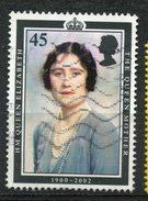 Great Britain 2002 45p Queen Mother Issue #2046 - 1952-.... (Elizabeth II)