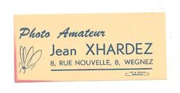Carte De Visite - Photo Amateur Jean XHARDEZ à WEGNEZ (b202) - Cartes De Visite