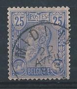 N°48, 25c Bleu Ambulant MIDI II - 1884-1891 Léopold II