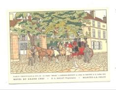 Carte De Voeux De L'Hôtel Du Grand Cerf à MANTES - LA - JOLIE - Illustrateur , Malle Poste, ... (b202) - Hotels & Restaurants