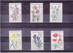 TCHECOSLOVAQUIE 1964 FLEURS Yvert 1339-1344 NEUF** MNH - Tchécoslovaquie