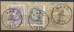 N°31.35 Et 36 Sur Fragt Càd GAND/1879 Superbe - 1869-1883 Leopold II
