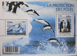 FR 2009 - Mini-Feuille N° F4350 - La Protection Des Poles - 2 Timbres Neuf** - SUPERBE - Sheetlets