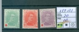 129-131   XX - 1918 Croix-Rouge