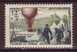 FRANCE - 1955 -YT N° 1018  - ** - JT Poste Aérienne - France