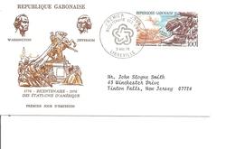 Indépendance USA ( FDC Du Gabon De 1976 à Voir) - Unabhängigkeit USA