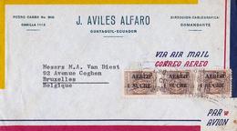 Lettre Equateur Ecuador Guayaquil Aviles Alfaro Bruxelles Belgique Direccion Cablegrafica Comandante - Equateur