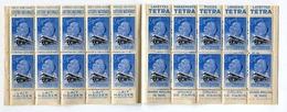 !!! CARNET ANTITUBERCULEUX 1939 ** PUBS LOTERIE - TETRA - HAUSER - GRANDS MOULINS - Antituberculeux