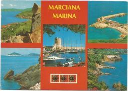 V567 Marciana Marina (Livorno) - Isola D'Elba - Panorama Vedute Multipla / Non Viaggiata - Italia