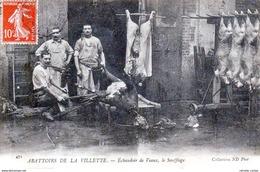 PARIS - Abattoirs De La Villette - Echaudoir De Veaux - Le Soufflage- Très Beau Plan Animé - Petits Métiers à Paris