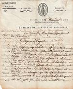 16 Ther. An 9 - BRIGNOLES (83) - ST ANTONIN (12) - Joseph SESTAN A Abandonné Son épouse Et L'a Laissée Dépourvue De Tout - Documents Historiques