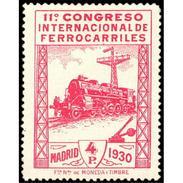 ES480STV-LFT***480STAN.Spain.Esgane.AVION,Congreso Internacional De FERROCARRILES.1930 (Ed 480**) - Nuevos