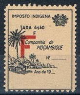 Companhia De Moçambique,  4$50, Imposto Indigena, MNG - Mozambique