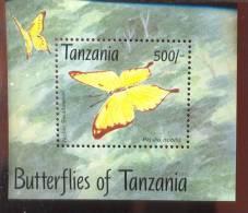 TANZANIA   1056 B  MINT NEVER HINGED SOUVENIR SHEET OF BUTTERFLIES - Schmetterlinge