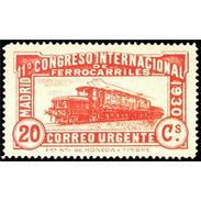 ES482STV-LFT***482STAN.Spain.Esgane.AVION,Congreso Internacional De FERROCARRILES.1930 (Ed 482**) - 1889-1931 Regno: Alfonso XIII