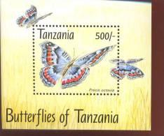 TANZANIA   1055  MINT NEVER HINGED SOUVENIR SHEET OF BUTTERFLIES - Schmetterlinge