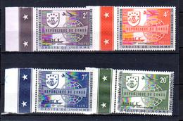 1963        Rep..Congo 1963, 15° Des Droits De L'Homme, Variété, 520A / 523 A**, Cote 88 € - Republiek Congo (1960-64)