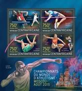 CENTRAFRICAINE 2013 SHEET MOSCOW ATHLETICS CHAMPIONSHIP SPORTS CHAMPIONNATS DU MONDE DE ATHLETISME MOSCOU Ca13517a - Central African Republic