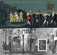 France - Feuillet Bloc Souvenir N° 129 **  Plus Beau Timbre De L'année 2015 - Danse Le Tango - Souvenir Blokken
