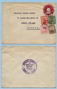 Egypte Entier Postal Sphinx Rouge + Compléments 26-07-1922 Caire -> Paris