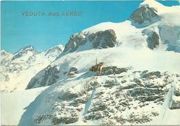 V588 Cervinia Breuil (Aosta) - Arrivo Delle Funivie Al Plateau Rosa - Piccolo Cervino E Breithorn / Viaggiata 1970 - Other Cities