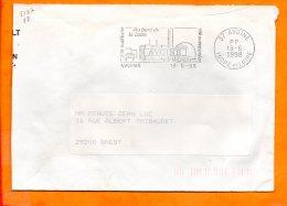 INDRE ET LOIRE, Avoine, Flamme SCOTEM N° 5157, Cité Nucléaire Au Bord De La Loire, Port Payé - Storia Postale