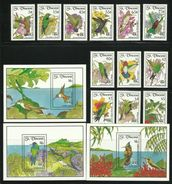 ST.VINCENT  1992  HUMMING BIRDS   SET  & 3 MINISHEETS  MNH