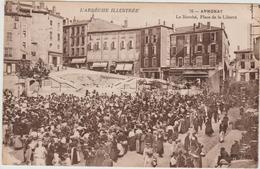 ANNONAY (07) - LE MARCHE - PLACE DE LA LIBERETE - Annonay