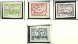 Poland Polska 1918 Local Post Michel 7 - 10 B * NB! Michel 8 B  (4 Gr. Stamp Is Fake/Faux) - Neufs
