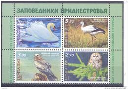 2013  Natural Reserves Of Transnistria, Jagorlyk, Birds, Set Se-tenant, Mint/** - Cigognes & échassiers