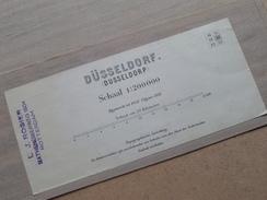DÜSSELDORF ( Dusseldorp ) Schaal 1:200000 Editie 1931 ( Kaart Op Coton / Katoen / Cotton ) ! - Europe