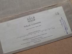KÖLN ( Keulen ) Schaal 1:200000 Editie 1930 ( Kaart Op Coton / Katoen / Cotton ) ! - Europa