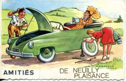 N°53137 -cpsm Illustrateur Chaperon -amitiés De Neuilly Plaisance- - Neuilly Plaisance