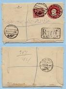 Egypte Enveloppe Lettre Recommandée + Complément  22-6-1917 Mahalla -> Caire Sphinx (2 Scan)