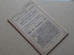 Ravenstein's Radfahrer- U. Automobilkarte MITTEL-EUROPA Blatt 127 Masstab 1:300000 ( Kaart Op Coton / Katoen / Cotton )! - Europe