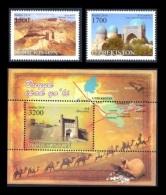 Uzbekistan 2016 Mih. 1142/43 + 1144 (Bl.79) Great Silk Way MNH ** - Usbekistan