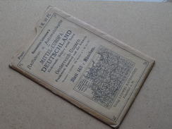 Ravenstein's Radfahrer- U. Automobilkarte MITTEL-EUROPA Blatt 143 Masstab 1:300000 ( Kaart Op Coton / Katoen / Cotton )! - Europa