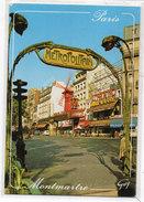 PARIS - MONTMARTRE  - Le Moulin Rouge - Place Blanche - Métropolitain   (96142) - Other