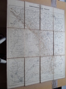 Karte Vom TEUTOBURGER WALDE Von W. LIEBENOW Scale 1:80000 ( Kaart Op Coton / Katoen / Cotton )! - Europa