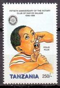 1999 Tanzania (Tanzanie) Polio, Rotary International (1v) MNH (M-39)